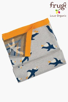 Frugi Organic Knitted Blanket With Penguins
