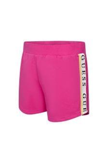 Guess Girls Pink Cotton Shorts