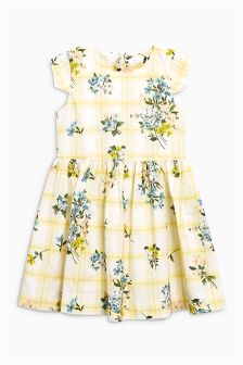 Stripe Floral Prom Dress (3-14yrs)