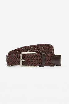 Leather And Cord Weave Belt