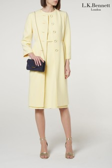 L.K.Bennett Yellow Georgia Coat