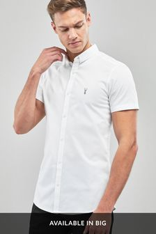 bb1fdb667b9 Short Sleeve Stretch Oxford Shirt