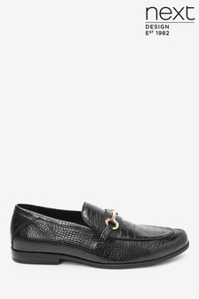 Embossed Snaffle Loafers