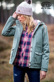 Animal Laurel Green Shortayed Parka