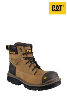 "CAT Cream Gravel 6"" Safety Boots"