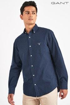 GANT Blue Broadcloth Regular Fit Shirt