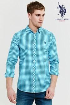 U.S. Polo Assn Gingham Check Long Sleeve Shirt