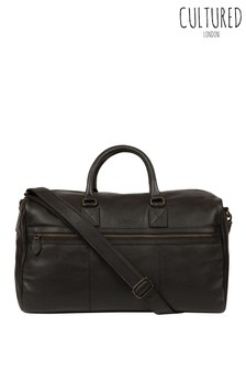 Cultured London Helm Leather Holdall