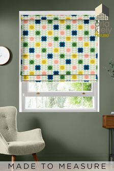 Summer Flower Stem Multi Cream Made To Measure Roman Blind by Orla Kiely