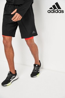 adidas Black Own The Run 2-In-1 Shorts
