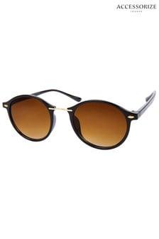 Accessorize Brown Phoebe Preppy Sunglasses