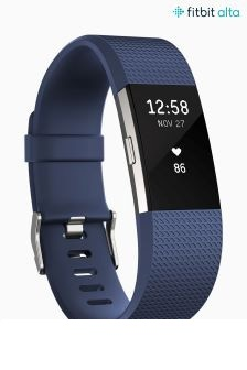 Fitbit® Blue Charge 2™ Activity Tracker Wristband
