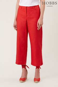 Hobbs Red Nicole Crop Trousers