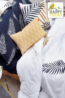 Happy Friday Foliage Duvet Cover and Pillowcase Set
