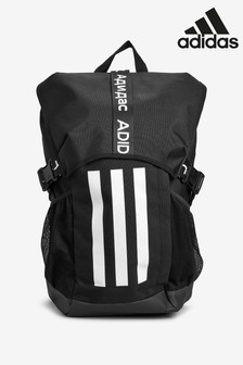 adidas Black Athletic 3 Stripe Backpack