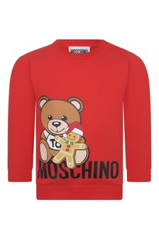 Baby Red Cotton Teddy Sweater