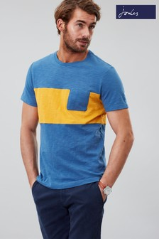 Joules Blue Rugby Striped Crew Neck Tee