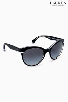 Ralph by Ralph Lauren Black Polarised Cat Eye Sunglasses