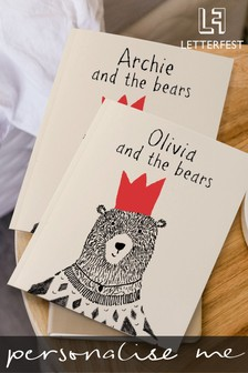 Personalised Bear Story Book by Letterfest