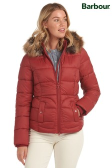 Barbour® Coastal Padded Faux Fur Trim Dover Jacket
