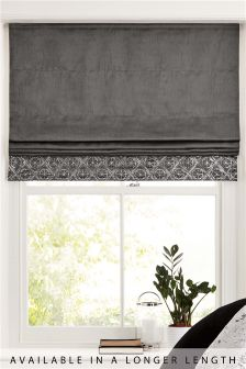 Geo Embellished Sequin Roman Blind