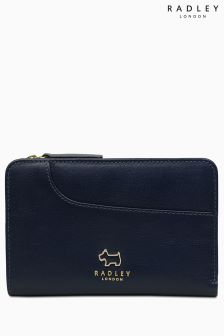 Radley Ink Navy Pockets Medium Ziptop Purse