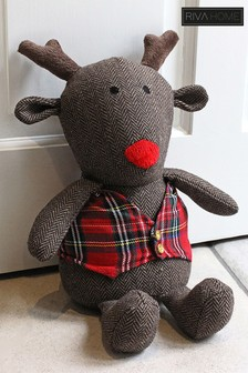 Rudolph Reindeer Cushion by Riva Home