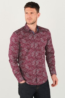 Paisley Print Long Sleeve Shirt