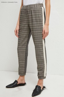 French Connection Grey Amati Check Tailored Joggers