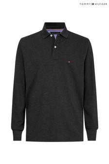 Tommy Hilfiger Grey Long Sleeve Polo