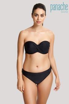 Panache Black Anya Riva Twist Bandeau Bikini Top