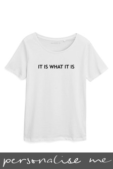 Personalised Slogan Printed T-Shirt