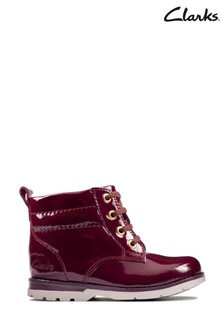 Clarks Berry Patent Astrol Lace Boots