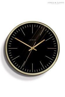 Jones Clocks Studio Polished Brass Wall Clock
