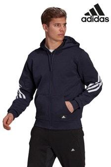 adidas FI 3 Stripe Zip Through Hoodie
