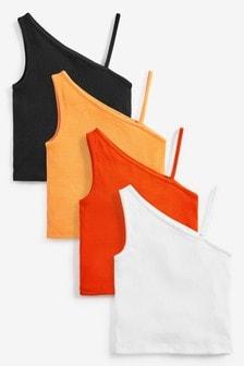 4 Pack One Shoulder Vests (3-16yrs)