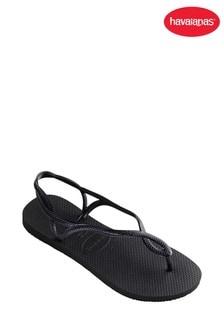 e4ac79bbe Havaianas® Black Luna Strap Flip Flop
