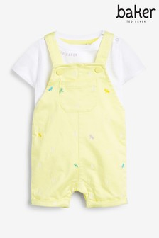 Baker by Ted Baker Yellow Dungarees And T-Shirt Set