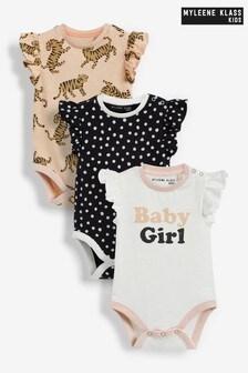 Myleene Klass Baby Ruffle Bodysuits Three Pack
