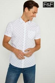 F&F White Pineapple Convo Print Shirt