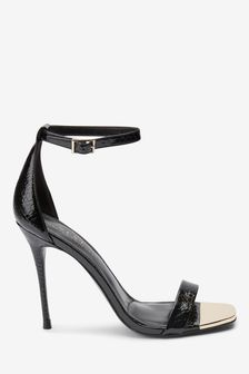 Metal Detail Barely There Sandals