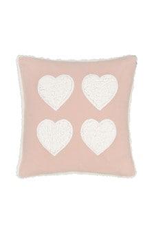 Catherine Lansfield Cosy Fleece Sherpa Heart Cushion