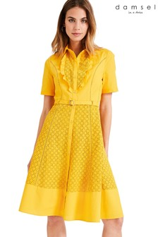 Damsel In A Dress Yellow Brielle Broderie Dress
