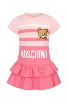 Moschino Kids Baby Girls Pink Cotton Dress