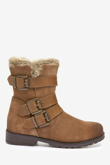 Premium Leather Buckle Boots (Older)