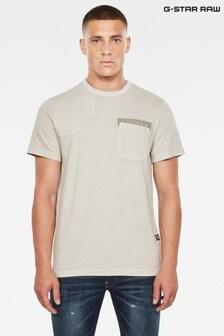 G Star Grey Hunting Patch T-Shirt