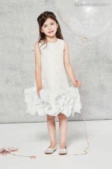 Серебристое жаккардовое платье Angel & Rocket