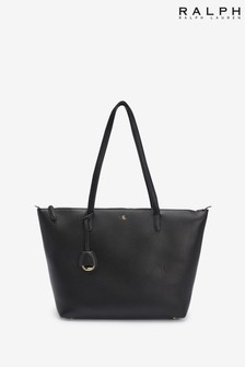 Ralph Lauren Vegan Leather Keaton Zip Tote Bag