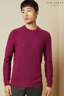 Ted Baker Pontac Long Sleeved Wool Crew Neck Jumper