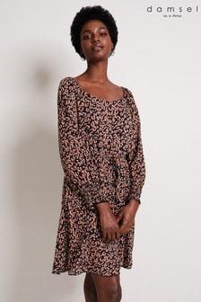Damsel In A Dress Blue Tabi Leopard Dress